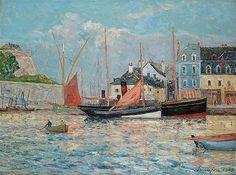 Maxime Maufra - Bassin aux vagues au port du Palais (1909)