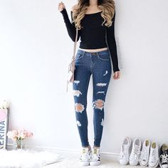 Swans Style is the top online fashion store for women. Shop sexy club dresses, jeans, shoes, bodysuits, skirts and more. Teen Fashion Outfits, Mode Outfits, Cute Fashion, Look Fashion, Outfits For Teens, Fall Outfits, Girl Fashion, Summer Outfits, Womens Fashion