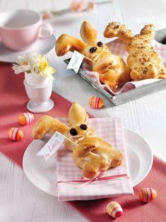 ... aus Quark-Öl-Teig! Die niedlichen kleinen Gesellen sind ideal als Platzkärtchen beim Osterbrunch!