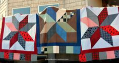 Girls Quilting Retr