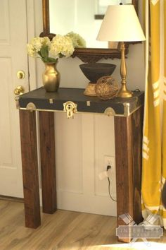 Great house tour of Interiors by Kenz with tons of DIY ideas like this trunk top table eclecticallyvintage.com