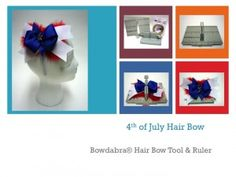 Use Bowdabra's Hair Bow Making Tutorial to make a patriotic hair bow for Memorial Day, 4th of July, or anytime you are in the red, white, & blue spirit.
