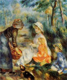 The Apple Seller - Pierre-Auguste Renoir