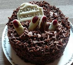 Death by Chocolate Cake: Halloween party food / treats / desserts