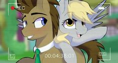 Doctor hooves and derpy , its sooo cute!!