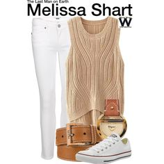 Inspired by January Jones as Melissa Shart on The Last Man on Earth - Shopping info! White Converse Outfits, Denim Converse, January Jones, Last Man, Paige Denim, Salvatore Ferragamo, Fashion Forward, Clothes For Women, Female