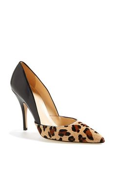 Free shipping and returns on kate spade new york 'lottie' pump (Women) at Nordstrom.com. Lustrous leather and leopard-spotted calf hair lend mixed-media allure to a svelte d'Orsay pump rich with playful sophistication.