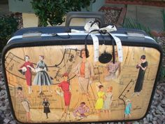 Recycled pattern suitcase
