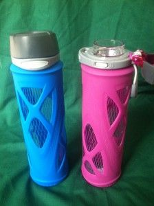Eco Vessel Surf Recycled Glass Water Bottle vs Zulu Glass Water