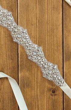 Rhinestone Bridal Sash / Crystal Wedding Sash