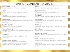 Types of Content to Post on Social Media - Social Media Strategy