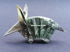 $2 bill Armadillo - Money Origami - Dollar Bill Art