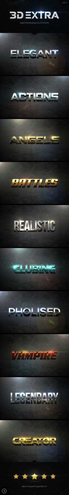 Buy Extra Light Text Effects by Actionshop on GraphicRiver. Extra Light Text Effects Change the text into Created with high-quality professional and very detailed. Photoshop Text Effects, Cool Photoshop, Photoshop Actions, Photoshop Design, Free Typeface, 3d Text, Layer Style, Text Style, Icon Design