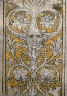 Mantegna, Andrea (1431-1506) Autoritratto in una grottesca