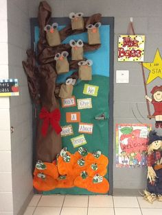 """My door for Red Ribbon Week. """"We Don't Give A Hoot About Drugs""""~ We won the door decorating contest!!"""