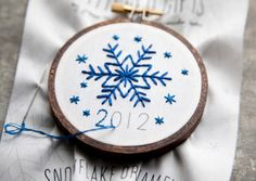 Stitched Snowflake Ornament