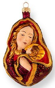 Madonna and Child Nativity Ornaments, Christmas Ornaments, Madonna And Child, Holy Family, Holiday Decor, Sagrada Familia, Christmas Jewelry, Christmas Decorations, Christmas Decor