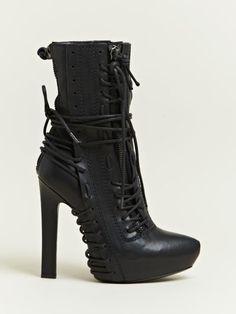 Haider Ackermann Haider Ackermann Womens Lace Elbamatt Boots in Black - Lyst