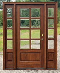 exterior French Doors with sidelights and transom. Change glass for ...