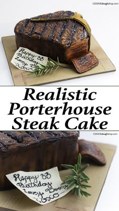 Learn how to create a cool realistic looking Porterhouse steak cake! a perfect dessert for meat lovers...