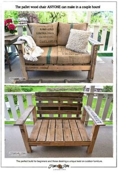 Pallet bench - i need this for my front patio!