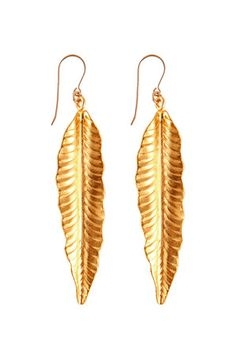 The Signature Feather Earring by Heather Gardner at CoutureCandy.com $154