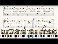 """""""Rewrite the Stars"""" - Sheet Music + Piano Tutorial - The Greatest Showman Piano Tutorial, The Greatest Showman, Piano Sheet Music, Music Download, Great Movies, Something To Do, Happiness, Stars, Youtube"""