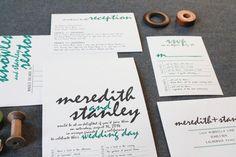 Modern Rustic Wedding Invitations, Unique Wedding Invitations, Custom Wedding Invitations, Modern Wedding Invitations - Meredith and Stanley