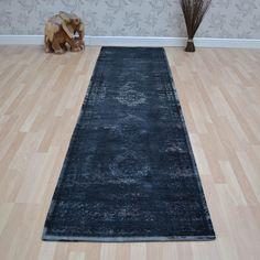 Louis de poortere fading world runners 8263 mineral black buy online from the rug seller uk
