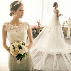 28adf147394a5 2016 fashion elegant Luxurious lace wedding dress plus size lace up mermaid  carpet vestidos de noiva real sample 3708.ty.hd