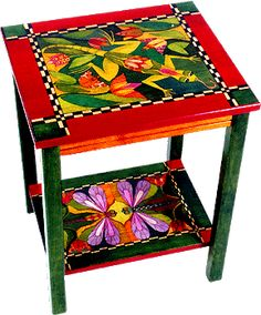Painted Tables hand painted table | kellow | pinterest