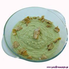 Avocado-Dip mit Artischocken - Rezept  der Avocado-Dip mit Artischocken ist schnell gemacht, vielseitig einsetzbar und richtig lecker vegetarisch vegan laktosefrei glutenfrei