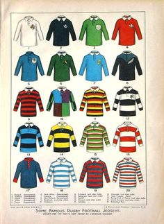 Classic rugby jerseys