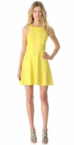 Yellow Sleeveless Casual Dress