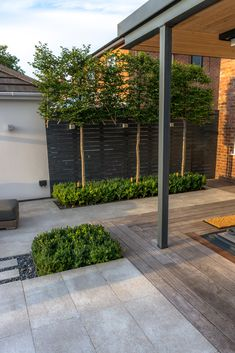 Designed by Robert Hughes Garden Design.  A Contemporary landscape in Manchester