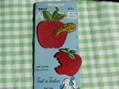 Save 20% with #coupon code ETSYCIJ on any order in my shop  Red Apple Appliques, One with a Worm, Cute Retro Craft and Sewing Supply by Wrights   #etsychristmasinjuly #christmasinjuly #etsycij #cij