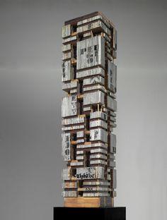 Maurizio Sacripanti, Modello del Grattacielo Peugeot, Buenos Aires, s.d., collezione MAXXI Architettura, Fondazione MAXXI Roma