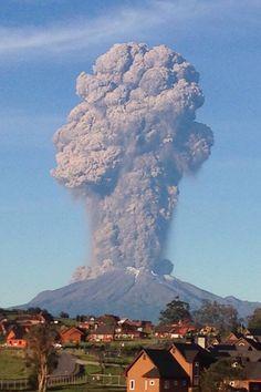Erupción Volcán Calbuco, 22-Abr-15.