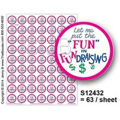 S12432 -p- Fun in FUNdraising PKC -63 STICKERS