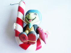 Vintage Disney Ornament / Jiminy Cricket Ornament / Enesco Ornament / Pinocchio Ornament / Disney Items / Pinocchio Items / Free Shipping by TamJewelryandUniques on Etsy