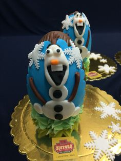 OLAF FROZEN CHOCOLATE EASTER EGGS!