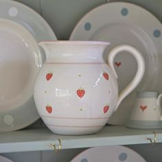 Strawberry medium round jug £54 | Perfect for serving water or displaying flowers at the table this Easter