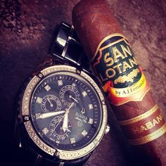 classy as hell! Cigars And Whiskey, Bulova, Chronograph, Omega Watch, Men Stuff, Coffee, Accessories, Instagram, Artsy