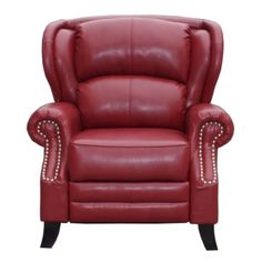 Kingsley Recliner Cherry Red Bonded Leather