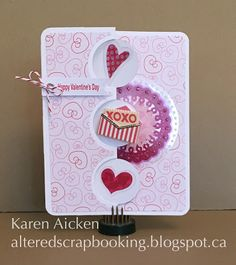 Altered Scrapbooking: Valentine Flip-it Card and a Zentangle Tile