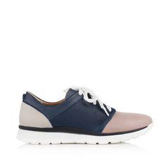 KACHOROVSKA / tricolor leather sneakers