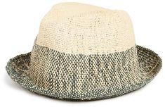 Paul Smith Two Tone Straw Trilby Hat 4c1a754657b6