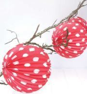 Robert Gordon | Red Polka Dot Latern | Baby Shower Party and Supplies