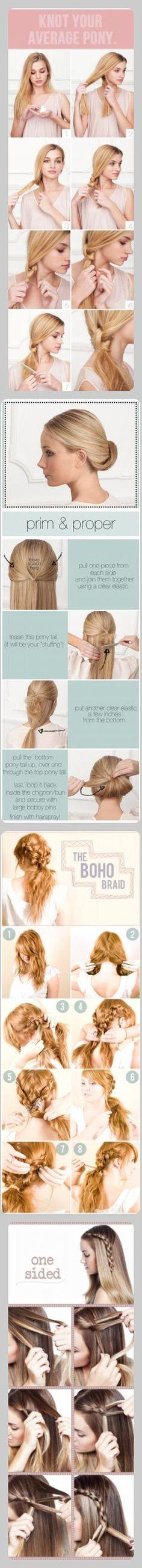 cool hair style DIYs :)