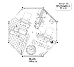 Guest House Addition (In-Law Suite & Granny Flat) Floor Plans by Topsider Homes Round House Plans, Yurt Home, Octagon House, Dome House, Building Systems, Granny Flat, Home Additions, Small House Design, In Law Suite